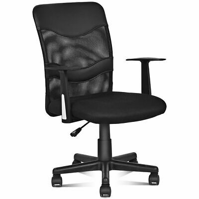 Modern Ergonomic Mesh Mid-Back Executive Computer Desk Task Office Chair Black