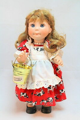 Lee Middleton Doll Hershey's Country Girl with Cow Dress Bloomers and Milk Pail