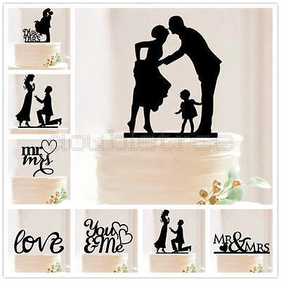 Wedding Party Cake Acrylic Topper Anniversary Birthday Party Favours Decor