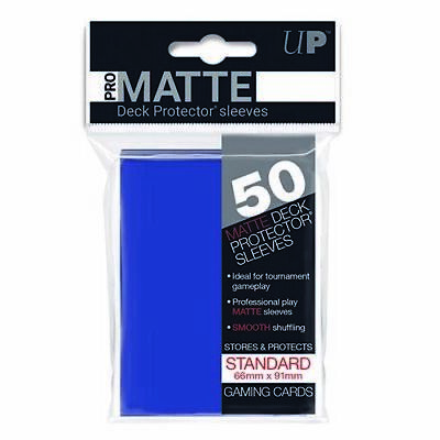Ultra Pro Deck Protector Sleeves Matte Non Glare BLUE Pokemon MTG 50 in Pack