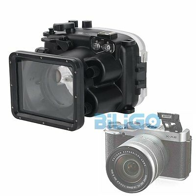 for Fujifilm X-A2 Camera Meikon Waterproof Case 40m Underwater Diving Housing