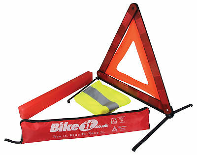 For BMW R1200GS Adventure Emergency Warning Triangle & Reflective Vest