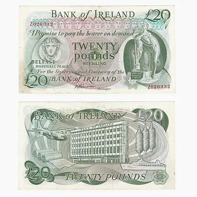 Bank of Ireland £20 REPLACEMENT Z Prefix - BYB ref: NI.233b - aEF.