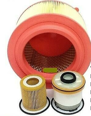 WESFIL 4WD AIR OIL FUEL FILTER SERVICE KIT FOR FORD RANGER PX 3.2L P5AT 09/11-on