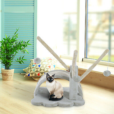 PawHut Small Cat Tree Scratching Post Play House Pet Bed Condo Kitten Toy
