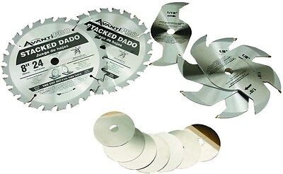 Avanti Pro 8 In. X 24-Tooth Stacked Dado Saw Blade Set Power Tool Accessories
