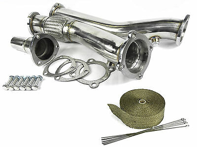 Stainless Steel Downpipe Audi A3 1.8T 20v Turbo 180bhp Quattro & Heat Wrap