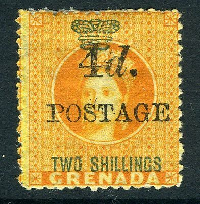 GRENADA-1888-91 4d on 2/- Orange Sg 41 MOUNTED MINT V11490