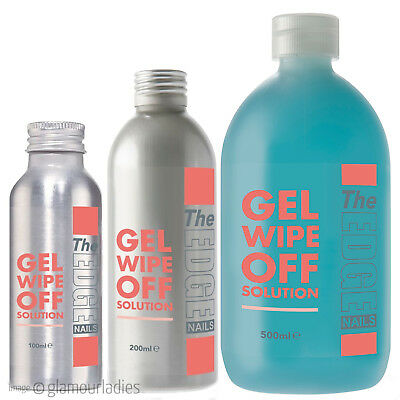 The Edge Nails UV Gel Wipe Off Solution, Finishing Gel Wipe Off Solution Bottle
