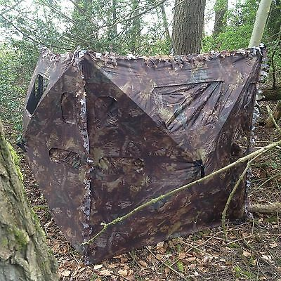 Concealer 2 SIDED Pigeon Shooting Air Rifle Hide Camo Pop Up Quick Set Windows