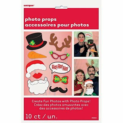 Unique Party Christmas Photo Booth Props (Pack of 10)  NEW