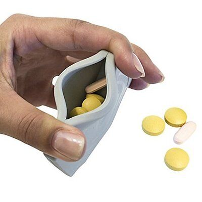Pill pouch, pill organiser. 4 compartments easy storage for pockets & purses