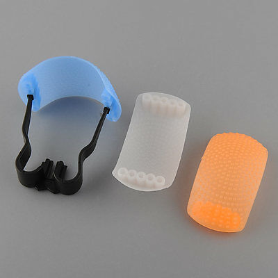 3 color Pop-Up Flash Bounce Diffuser Cover kit softbox For Canon Nikon Pentax