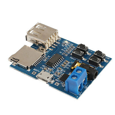 MP3 Decoder Board TF Card Slot U Disk Decoding Player Module w/ Mono Amplifier