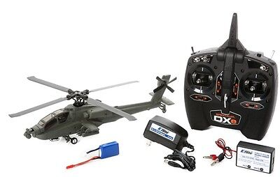 Blade BLH2500 Micro AH-64 Apache RTF Helicopter w Radio Battery Charger
