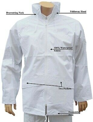CATHEDRAL Duraproof Jacket Mens 100% Waterproof Unlined White Bowls