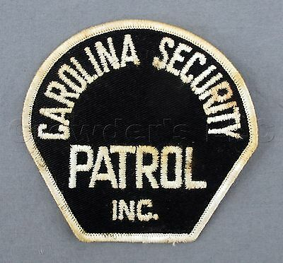 United States USA North Carolina NC Security Patrol Inc. Police Emblem Patch