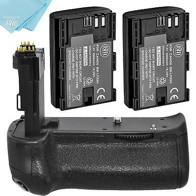 BG-E14 Replacement Battery Grip for Canon EOS 80D + 2 LP-E6 Batteries