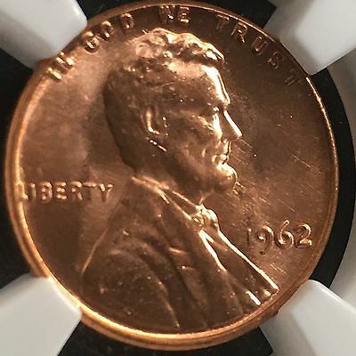 1962 1C RD Lincoln Memorial One Cent   NGC  MS66RD                  3585032-027