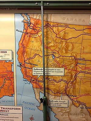 Nystrom Disc Based Map Stand on Casters - Homeschool/school - STAND ONLY