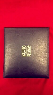 1980 Treasures of Tutankhamun Exhibition Issue 23k Gold Stamps 38 Pages