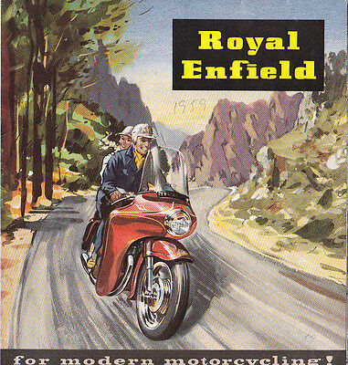 Royal Enfield Motor Cycle Circa 1959 Fold Out Brochure.