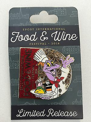 NEW 2016 Disney EPCOT Food & Wine Festival Chef Figment Limited Release Pin