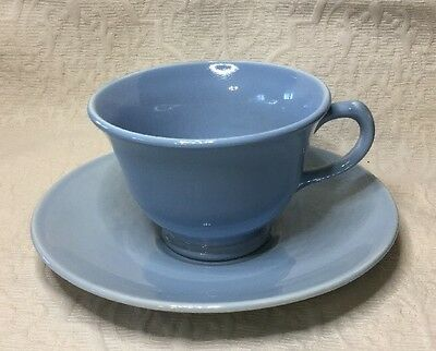 LuRay Pastels  Windsor Blue Footed Cup & Saucer TS&T