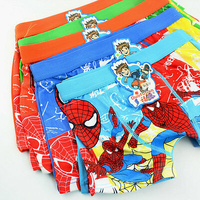 4PCS Boys Baby Kids Spiderman Underpants Briefs Boxer Shorts Panties Underwear