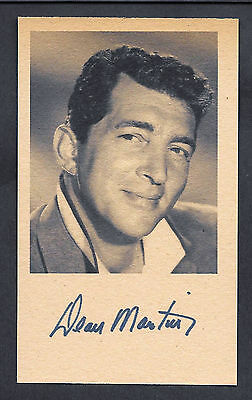 Dean Martin Autograph Reprint On Genuine Original Period 1960 3x5 Card
