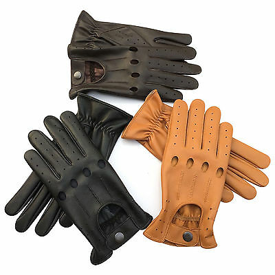 Prime Mens Top Quality Soft Lambskin Leather Chauffeur Driving Gloves 507