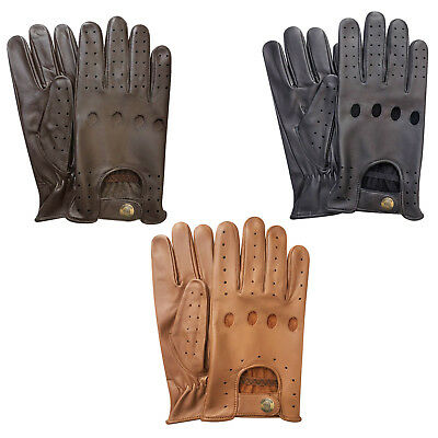 New Prime Leather Top Quality Soft Comfort Mens Chauffeur Driving Gloves 502