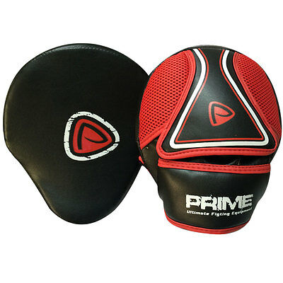 Prime Curved Focus Pad Mitts Hook & Jab Punch Bag Kick Boxing Muay Thai MMA 1103