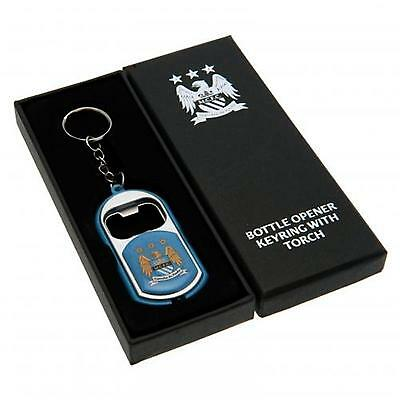 Manchester City F.C. Key Ring Torch Bottle Opener OFFICIAL LICENSED PRODUCT