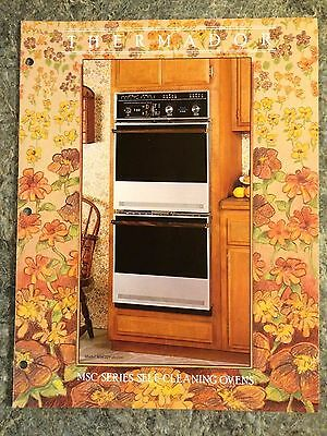 VINTAGE 1970's THERMADOR SELF CLEANING OVEN STOVE DEALER BROCHURE  ADVERTISING
