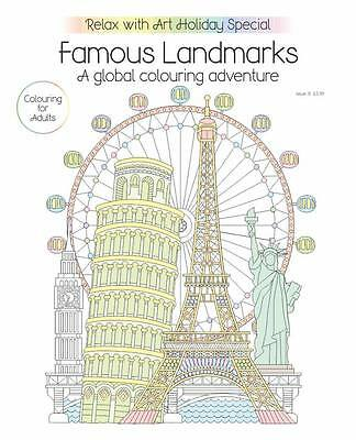 Relax with Art Special Issue 7 Famous Landmarks A Global Colouring Adventure
