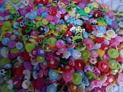 200pcs  mix lot  lovely baby DIY doll Scrapbook Sewing craft resin button random