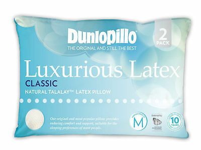Tontine-Dunlopillo-2 Pack Luxurious Latex Classic Medium Profile & Feel Pillow