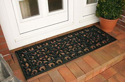 Tough Hard Wearing Outdoor Exterior Rubber Links Doormat Door Mat 120cm x 60cm