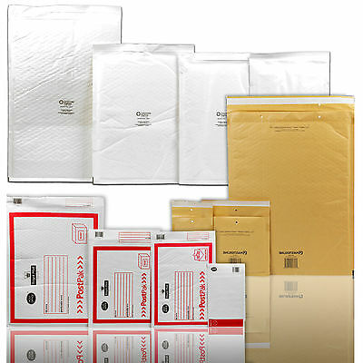 Jiffy Envelopes Padded Mail Lite Bags Bubble Wrap Postage Shipping Royal Mail