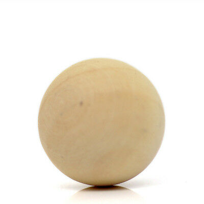 2 New Natural Wood Round Ball Hardwood Solid Ball No Hole DIY Crafts Making 50mm