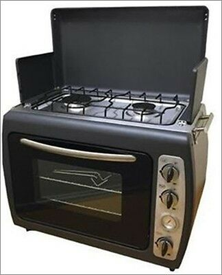 Leisurewize portable camping gas two burner hob & oven kitchen - LWACC432