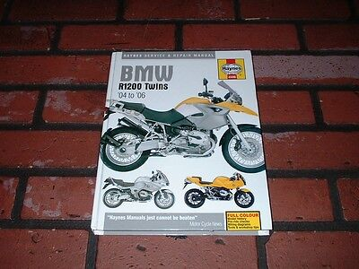 Haynes Manual For Bmw R1200 Twins. 2004 To 2006.