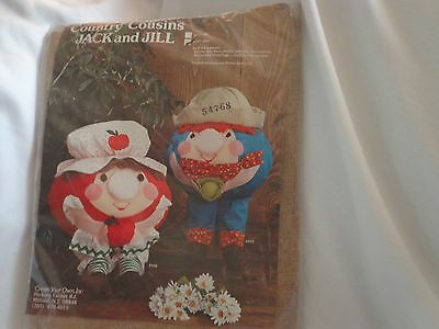 Vintage Country Cousins Jack and Jill Pillow Pattern JACK PILLOW ONLY