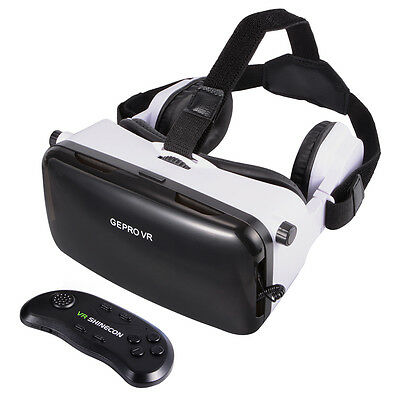 VR Virtual Reality Headset 3D Video Brille w/ Headphone für iPhone 6 Plus AC503