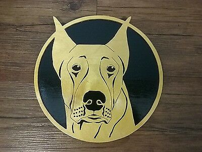 Great Dane Hand Carved Wood Wall Decor