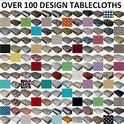 WIPE CLEAN TABLECLOTH VINYL OILCLOTH WIPEABLE TABLE COVER PROTECTOR 140 x 100 cm