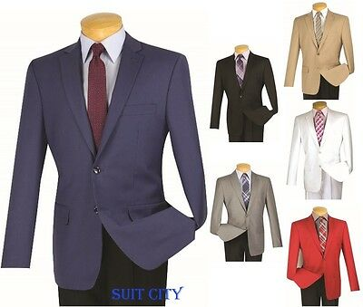 Men's Sport Coat 2 Button Single Breasted Blazer Slim Fit Six Colors BS-10