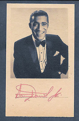 Sammy Davis Jr. Autograph Reprint On Genuine Original Period 1960 3x5 Card