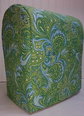 Green Blue Paisley Kitchenaid 4.5,5,6qt Lift Bowl Stand Mixer Cover w/Pockets